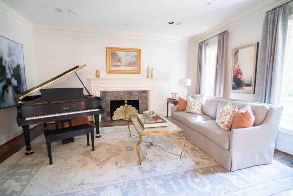 living room designer dallas