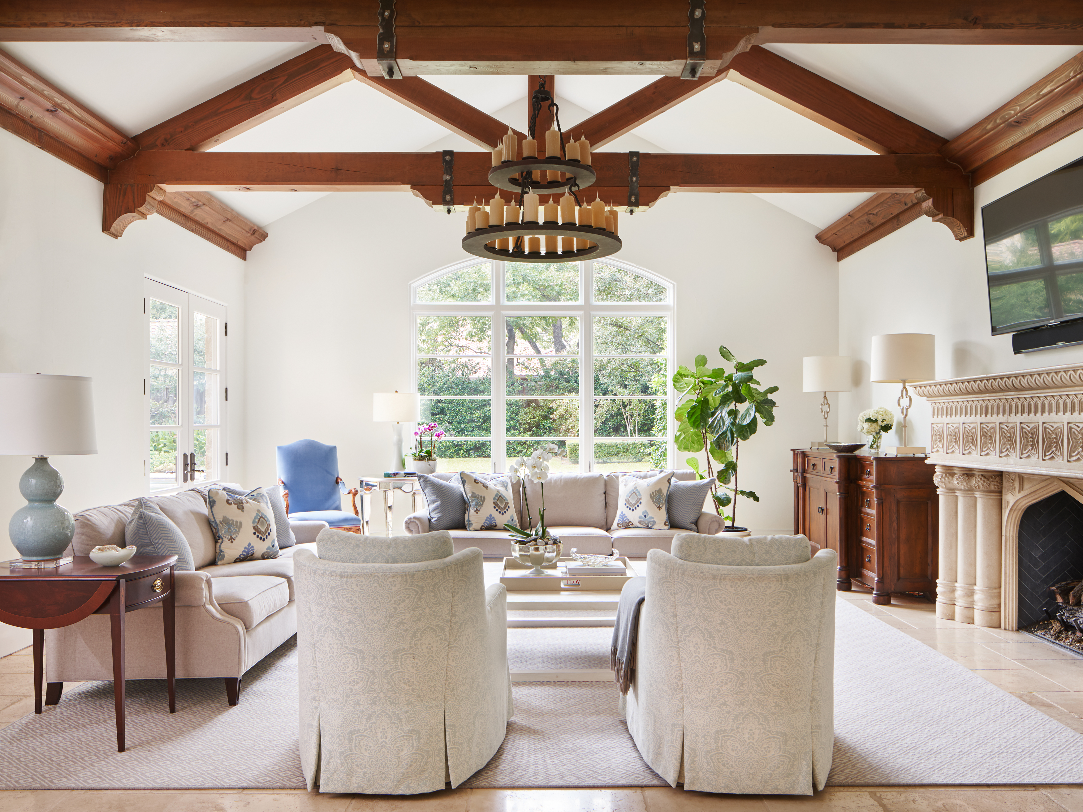 living room designer dallas